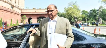New Delhi: NCP MP Sharad Pawar arrives at Parliament, in New Delhi on March 6, 2020. (Photo: IANS)