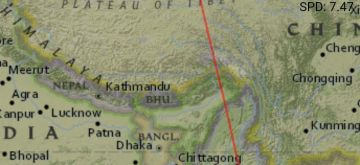 Indian spy satellite passes over Tibet, China mobilises troops.