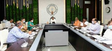 Amaravati: Andhra Pradesh Chief Minister chairs a review meeting with the Agriculture Department in Amaravati on July 28, 2020. The Andhra Pradesh government has given good news for the state's farmers. As part of the Rythu Bharosa Kendras, the digital payment system has been piloted in the ambitious scheme through which farmers can buy the fertilizers, seeds and medicines they need from today. Andhra Pradesh Agros company has made its services available for digital payment process. (Photo: IANS)