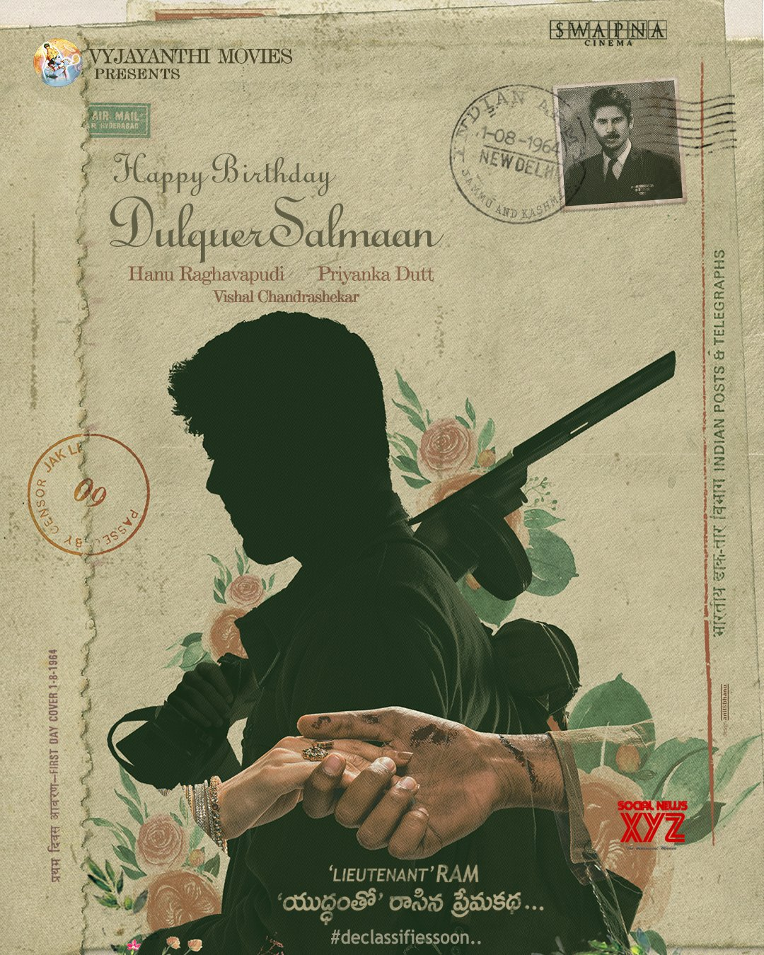 Dulquer Salmaan To Play Lieutenant Ram In Swapna Cinema's Untitled 1964 Period Love Story During War