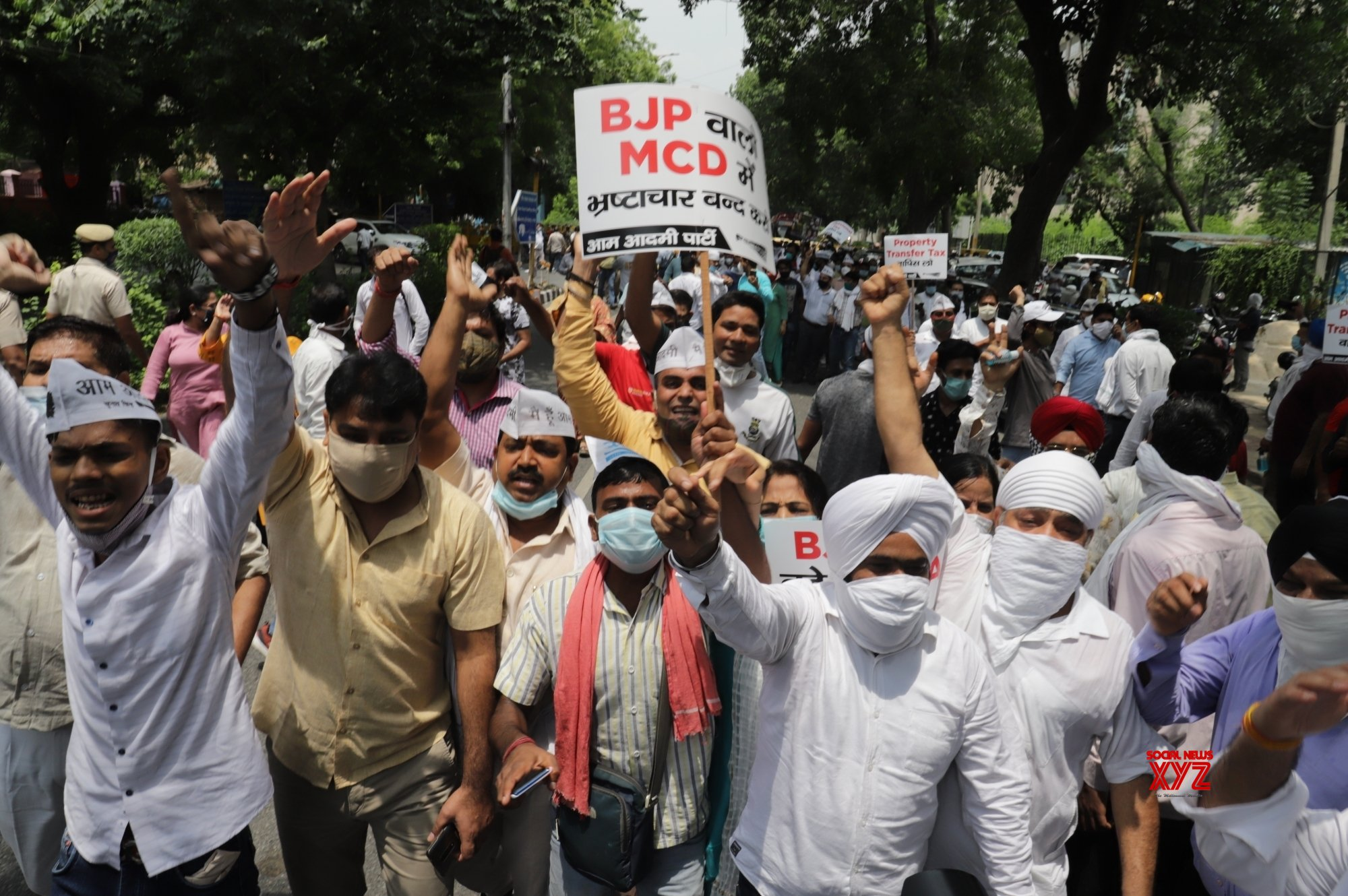 New Delhi: AAP protests against SDMC tax hike #Gallery