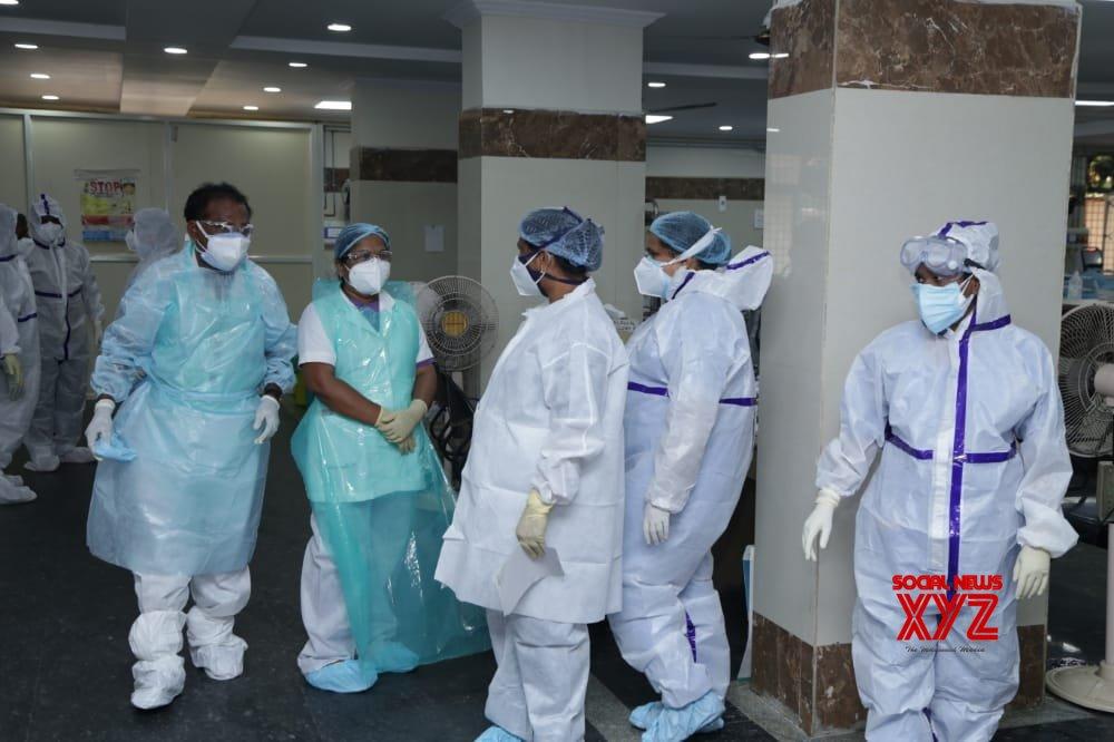 Hyderabad: G. Kishan Reddy pays inspection visit to Gandhi Hospital #Gallery