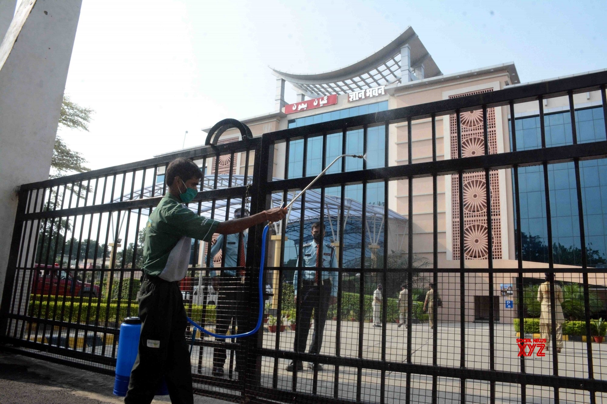 Patna: Preparations underway at Gyan Bhawan for four - day Monsoon session #Gallery