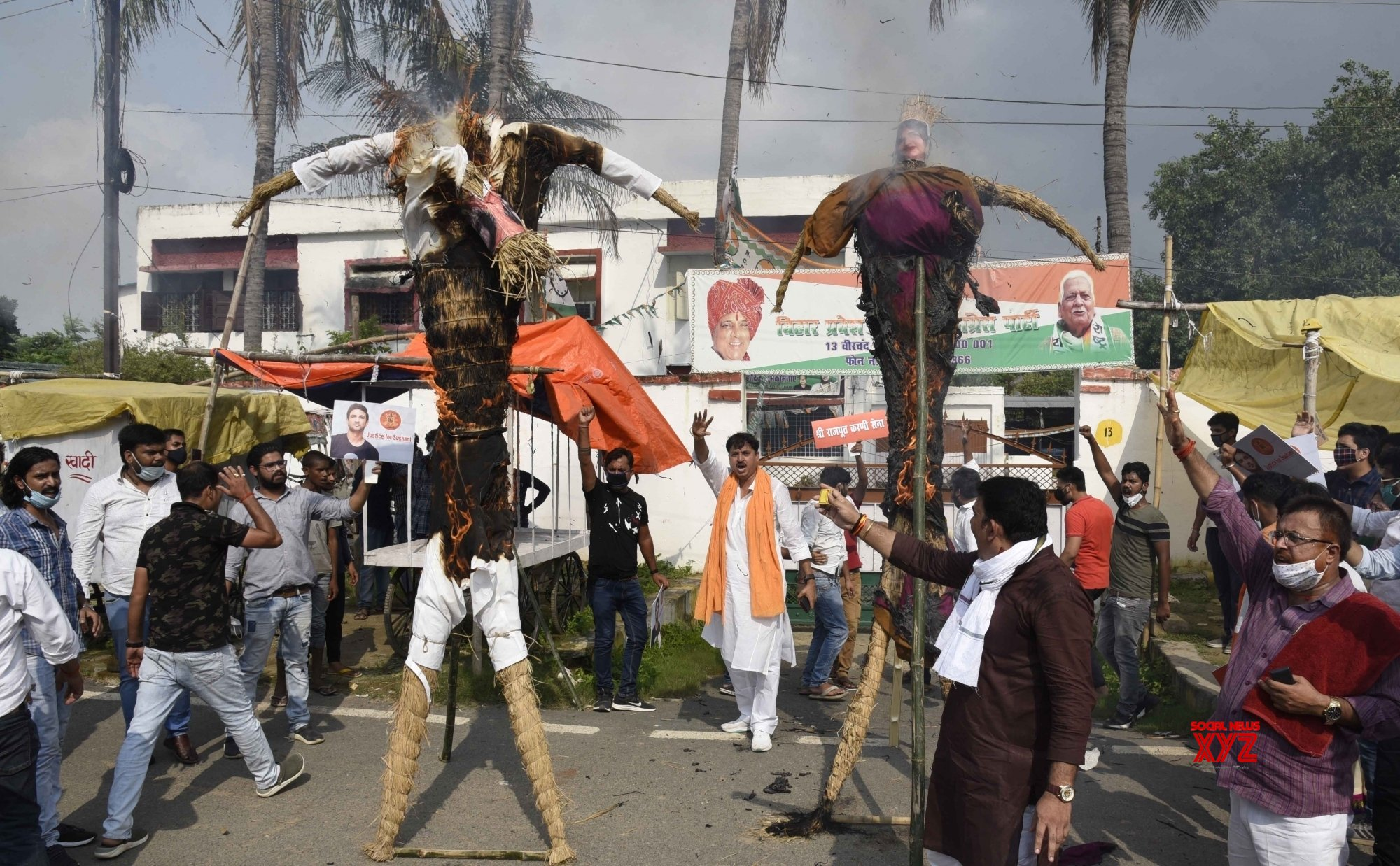 Patna: Karni Sena demands CBI probe in Sushant Singh Rajput's death #Gallery