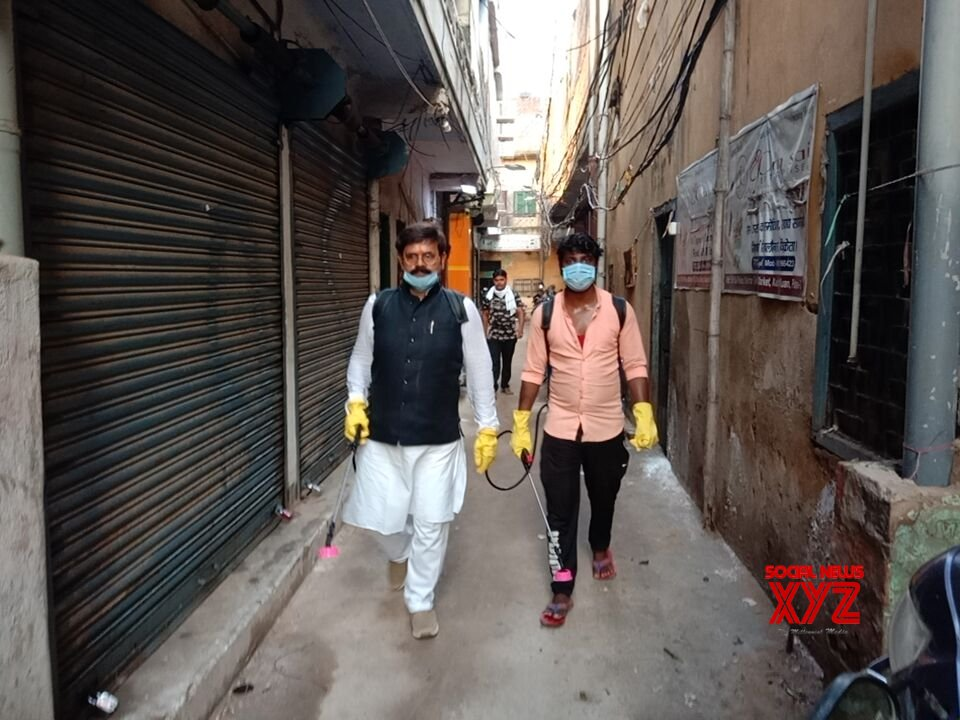 Patna: Baban Yadav conducts fogging and sanitisation across various localities of Patna #Gallery