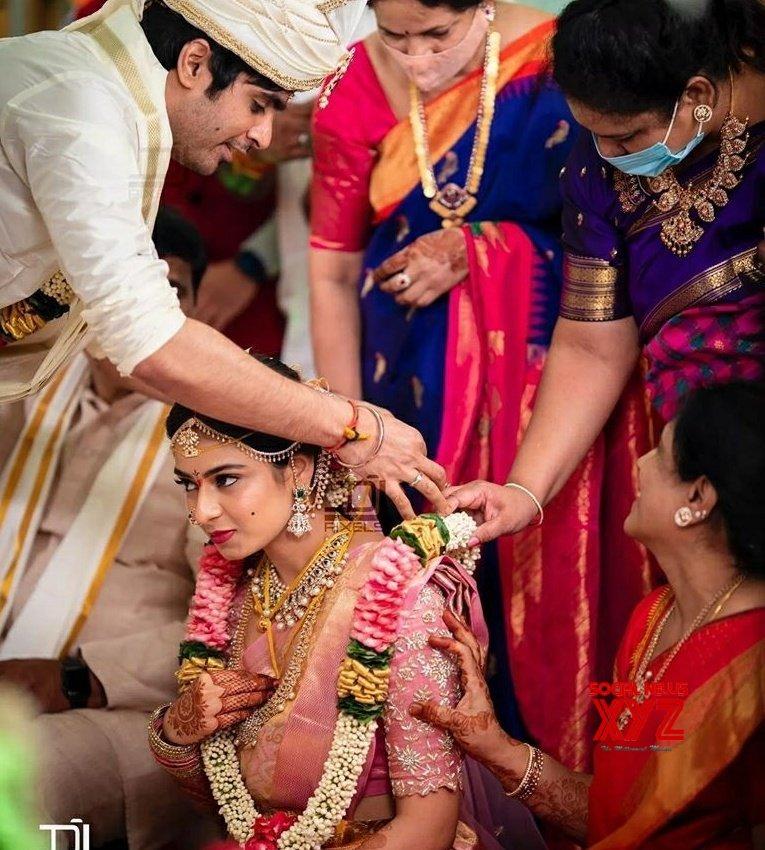 Saaho Director Sujeeth And Pravallika's Wedding Stills