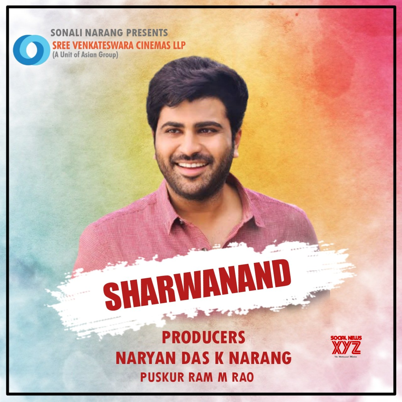 Sharwanand to do a film for Sree Venkateswara Cinemas LLP (A Unit Of Asian Group)