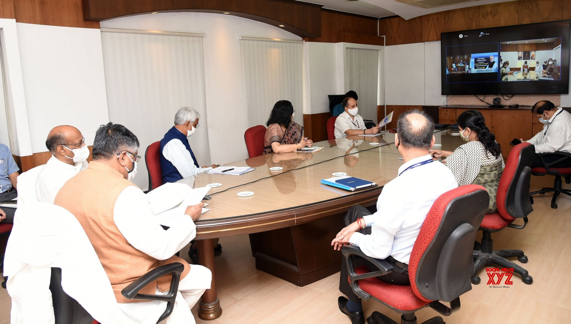 New Delhi: Ravi Shankar Prasad at the launch submarine cable connectivity to Andaman & Nicobar Islands #Gallery
