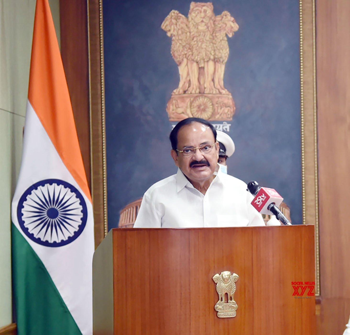 New Delhi: Venkaiah Naidu lays foundation stone for housing complex for Rajya Sabha employees #Gallery