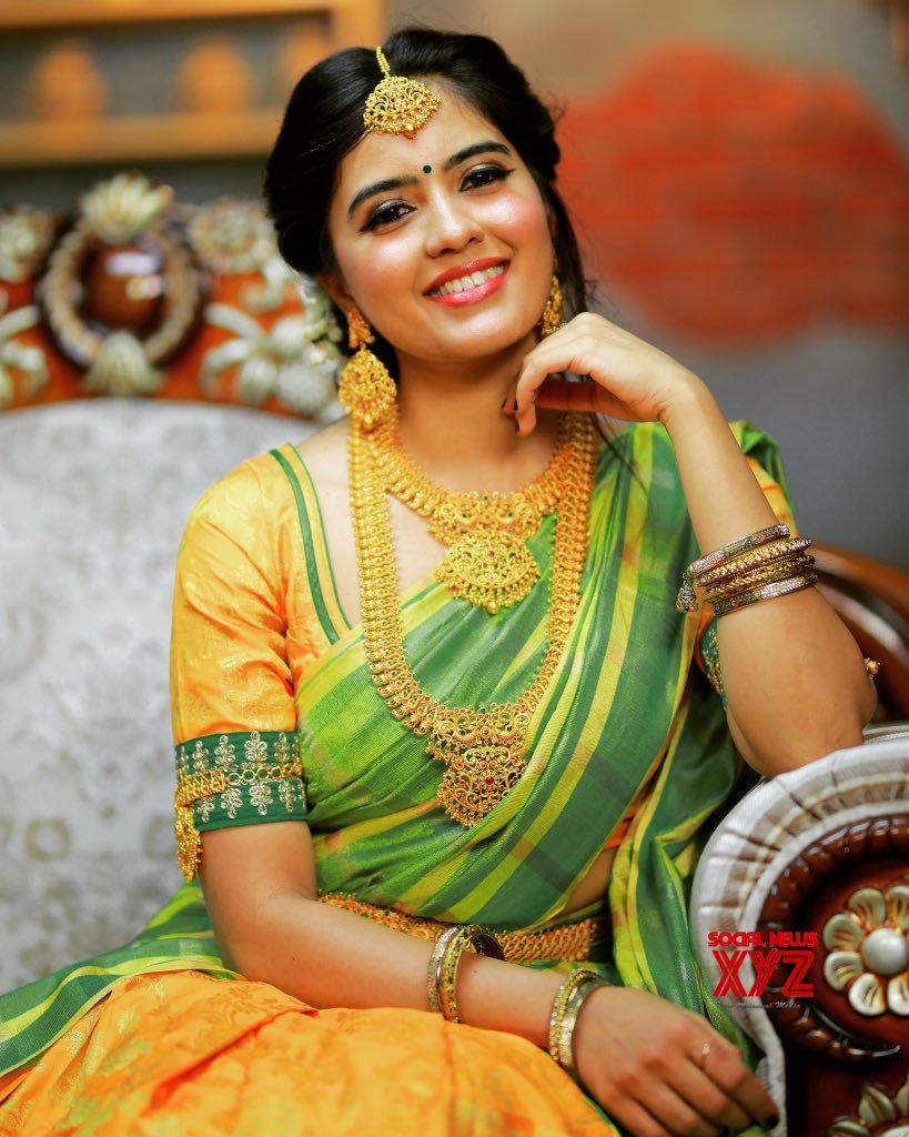 Actress Amritha Aiyer Gorgeous Traditional Stills