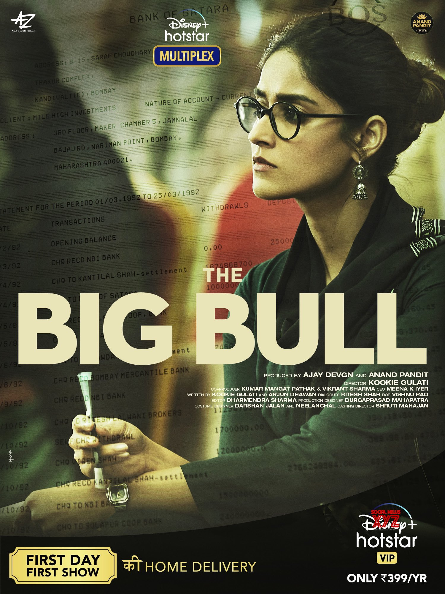 Ileana D'Cruz First Look Poster From The Big Bull Movie - Social News XYZ