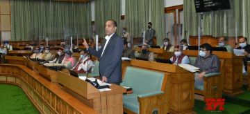 Shimla: Himachal Pradesh Chief Minister Jai Ram Thakur addresses the State Assembly during the Monsoon Session, in Shimla on Sep 15, 2020. (Photo: IANS)
