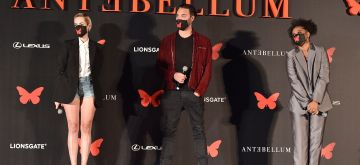 Jena Malone, Jack Huston and Kiersey Clemons appear at the Antebellum Rooftop Cinematic Experience at The Grove on September 14, 2020