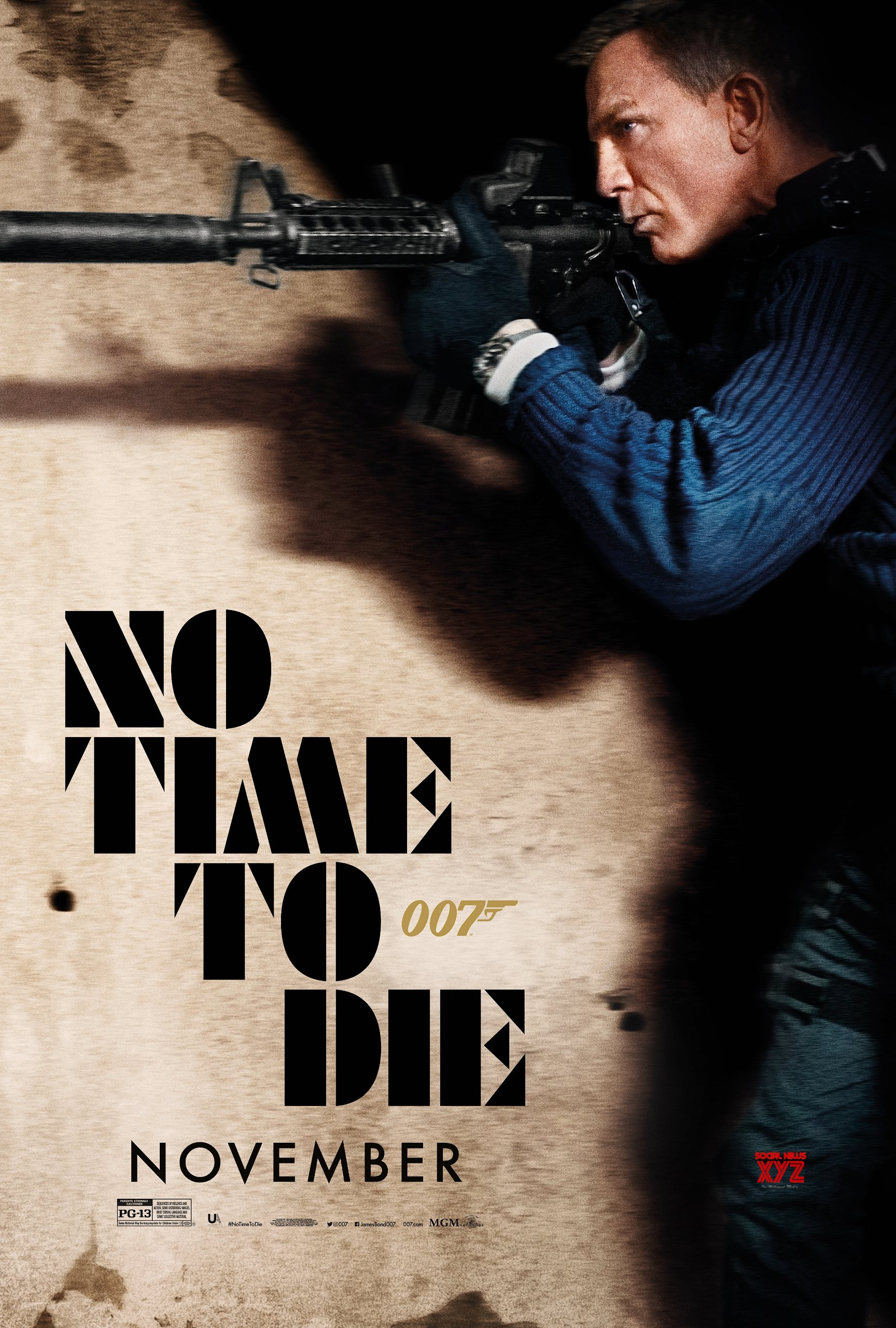 Bond 25th Movie No Time To Die Latest Action Poster