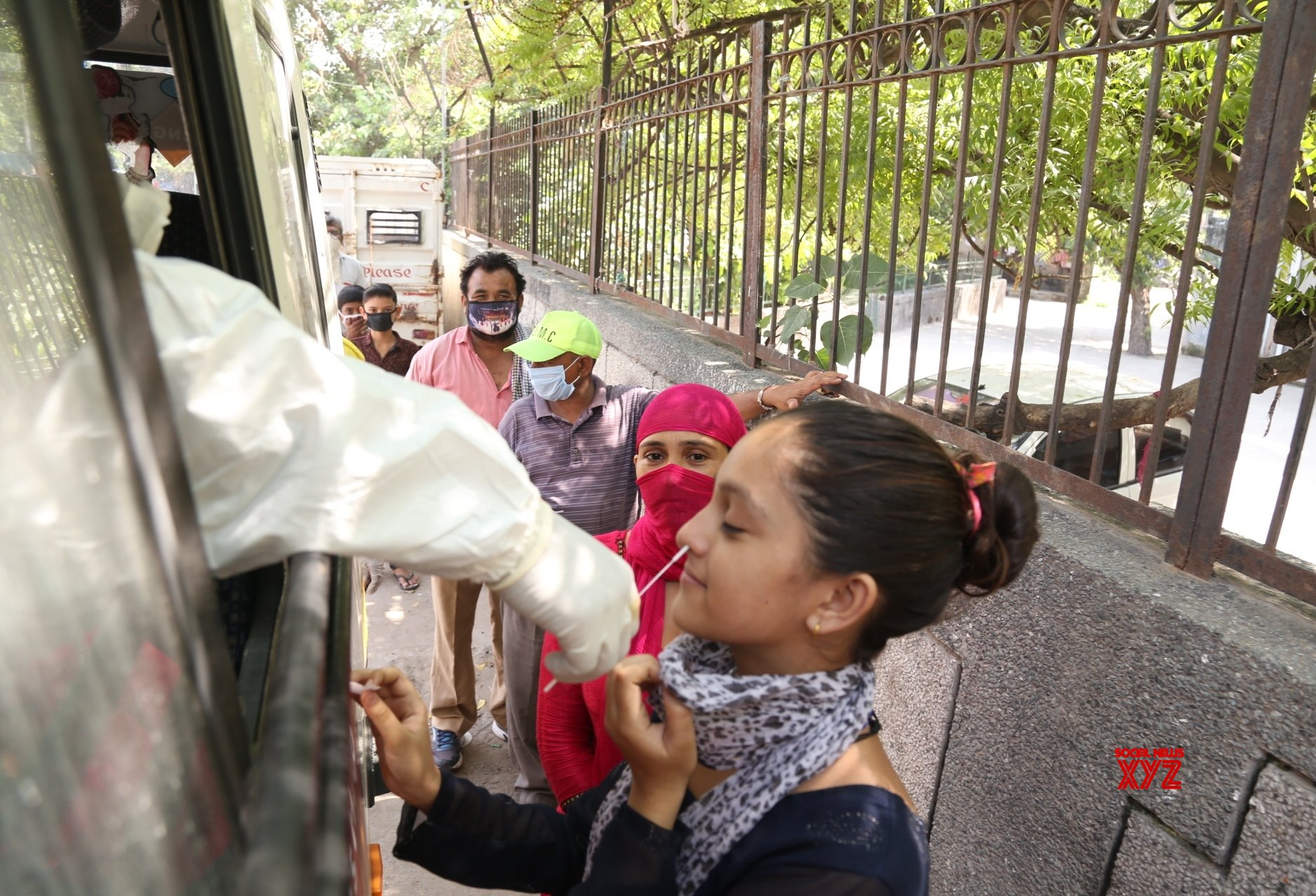 New Delhi: Swab samples collected for COVID - 19 testing #Gallery