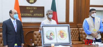 New Delhi: External Affairs Minister S. Jaishankar releases commemorative stamp to mark the 150th birth anniversary of Mahatma Gandhi, in New Delhi on Sep 29, 2020. (Photo: IANS/MEA)