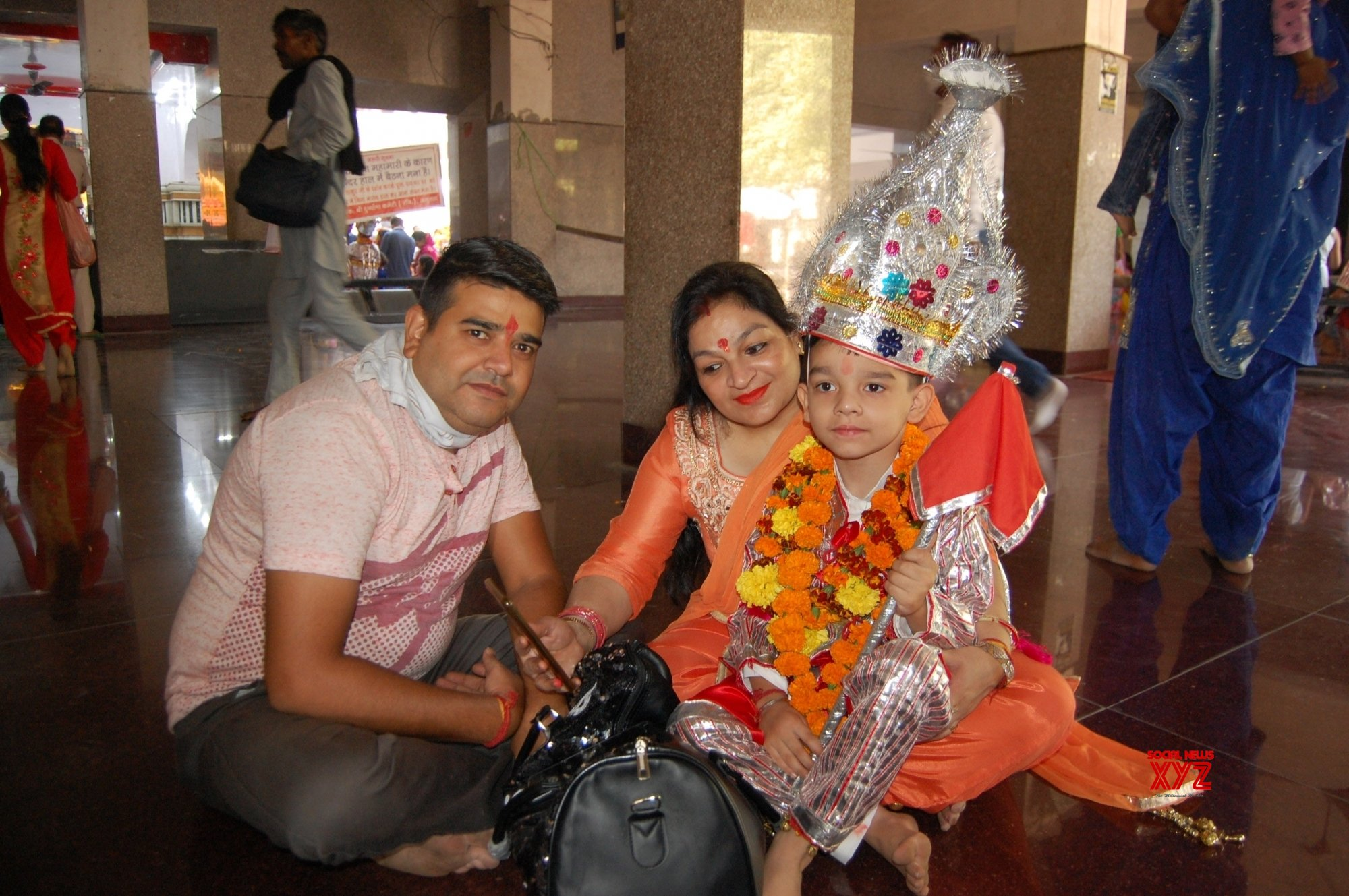 Amritsar: Devotees throng Bara Hanuman Temple on the first day of Navaratri #Gallery