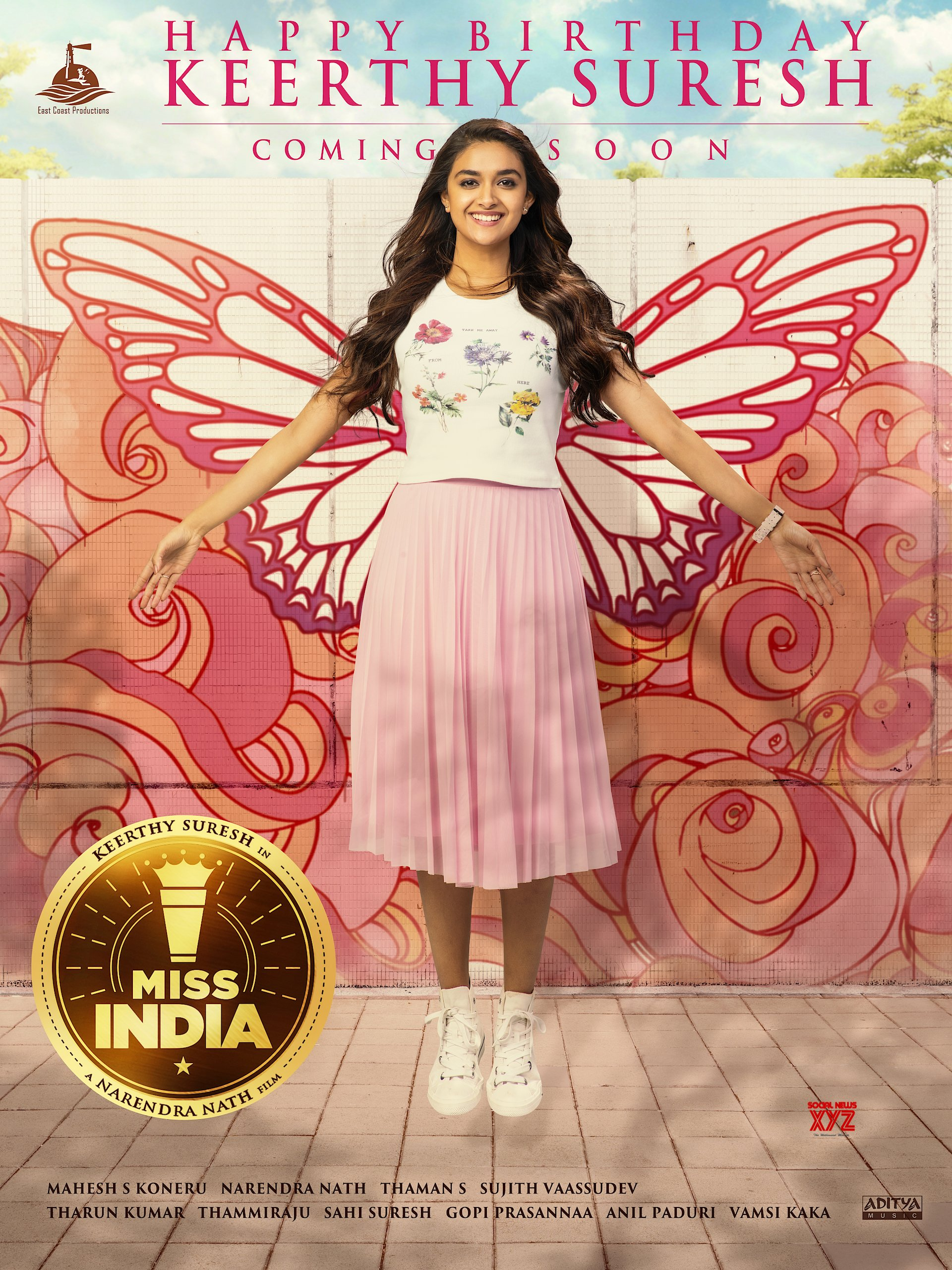 Keerthy Suresh Birthday Wishes Poster And Released By Miss India Movie Team