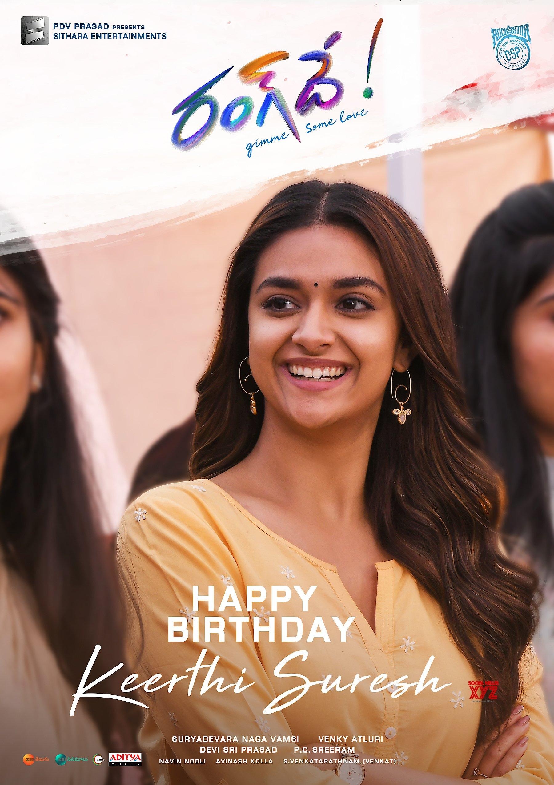 Rang De Team Releases Keerthy Suresh's Poster From Rang De Movie On Her Birthday