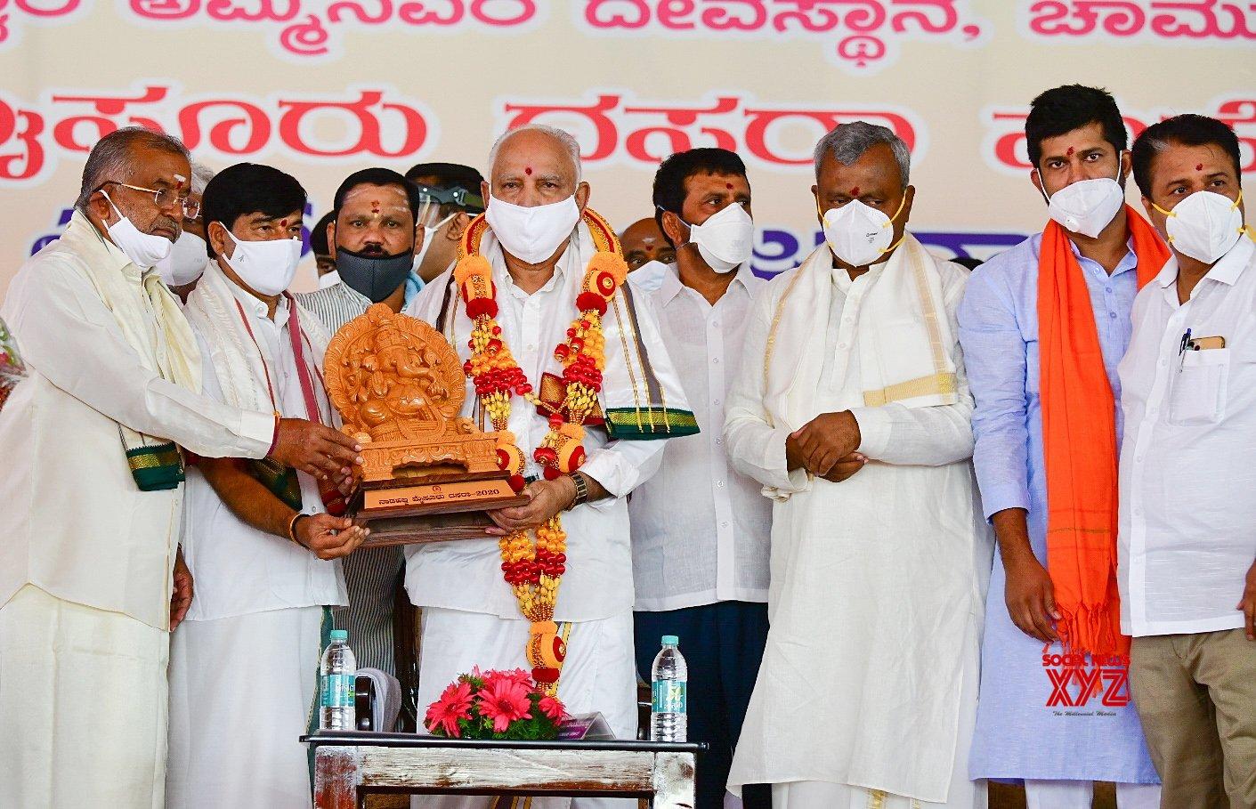 Mysuru: BS Yediyurappa inaugurates Dasara celebrations in Mysuru #Gallery