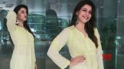 Actress Mannara Chopra Snapped For An Event In Hyderabad | Manastars  (Video)