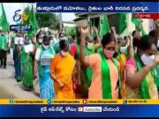 Amaravati Farmers Hold Rally | Against Abusing Posts on Woman | at Thullur  (Video)
