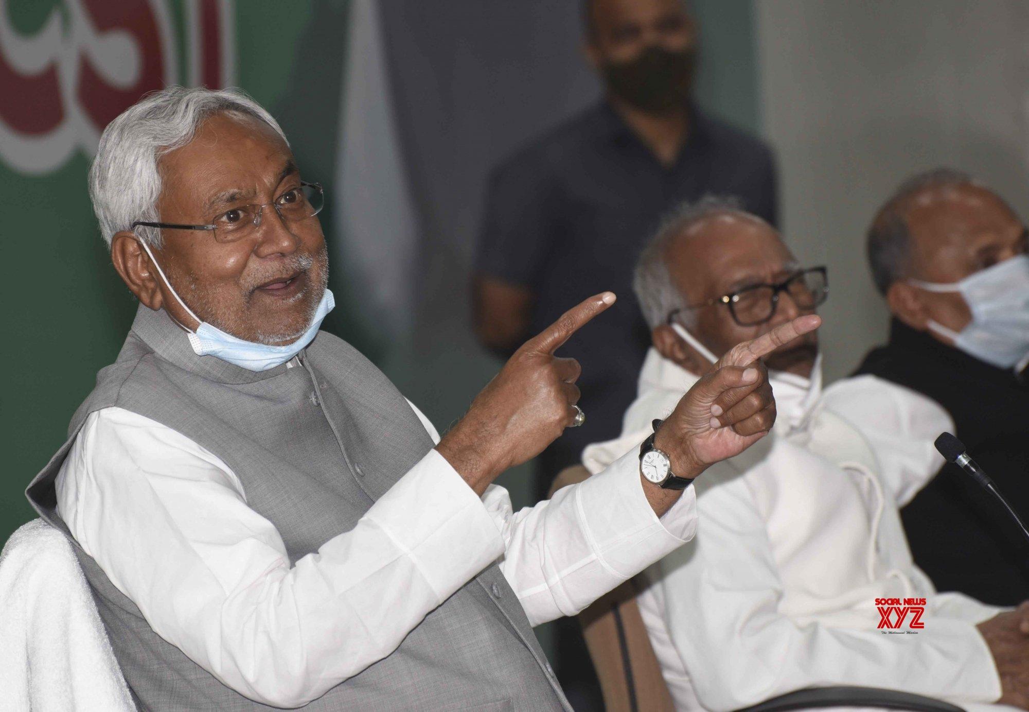 Patna: Nitish Kumar's press conference #Gallery