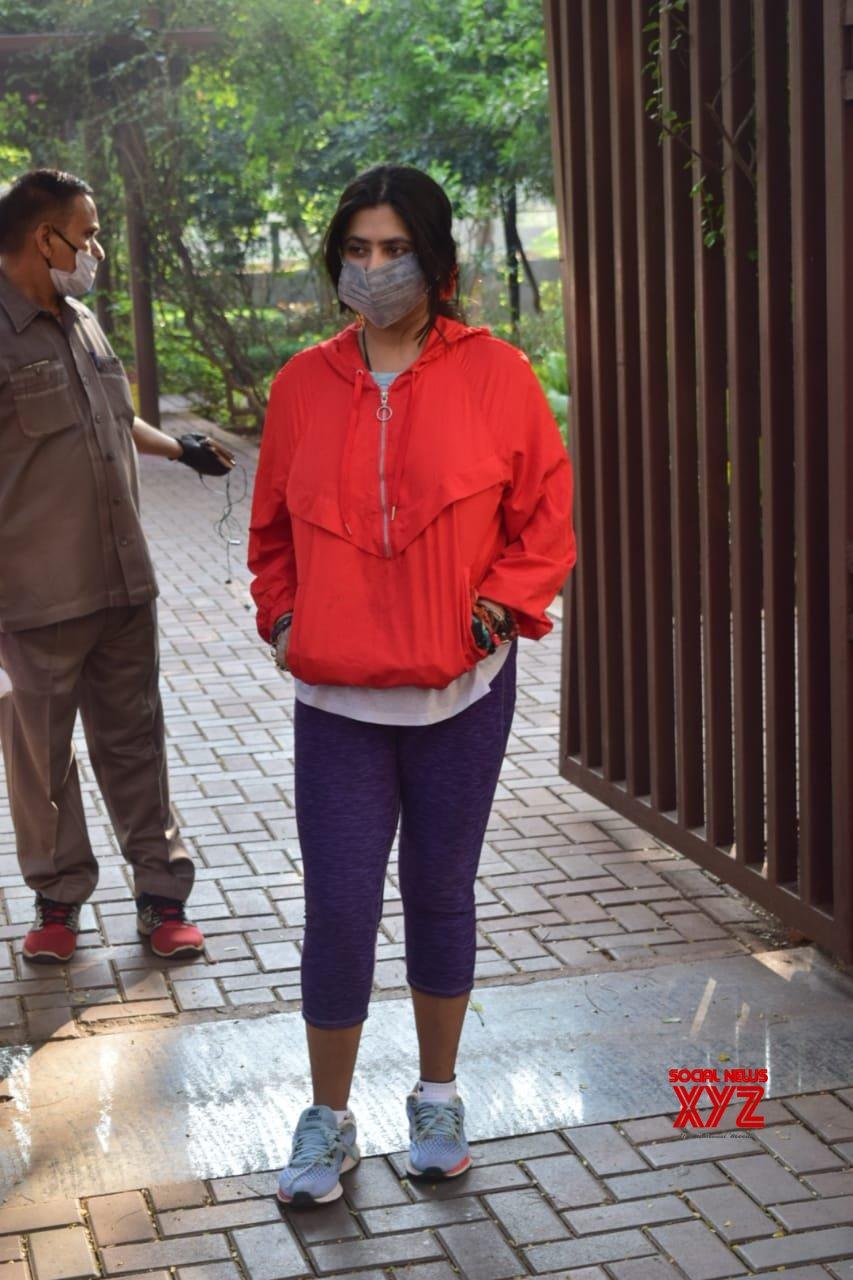 Ekta Kapoor Spotted At Juhu - Gallery