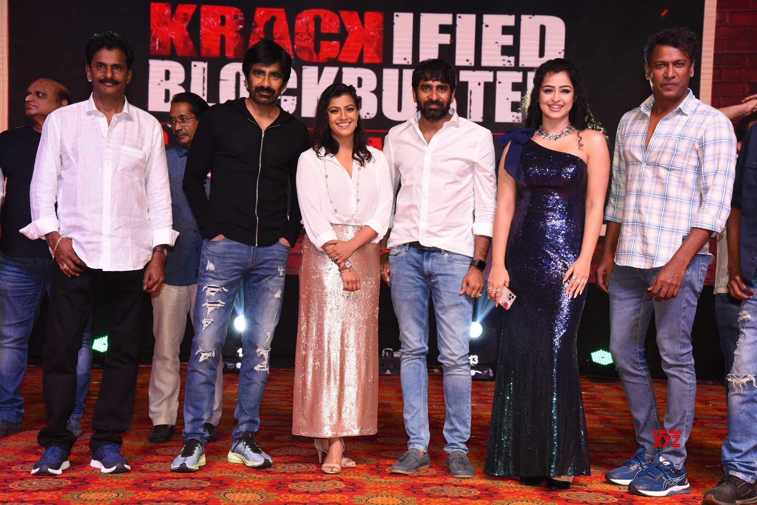 Ravi Teja's Krack Movie Success Celebrations At Vizag Main Group HD Gallery