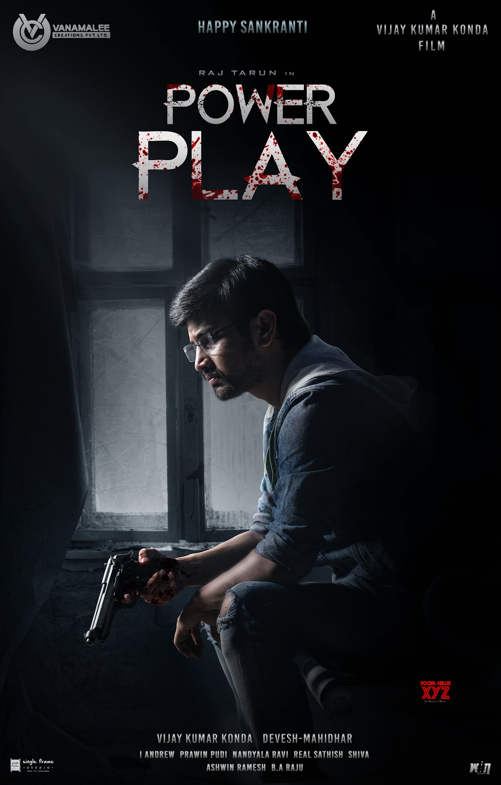 Versatile Hero Rana Daggubati Unveiled The First Look & Motion Poster Of Raj Tarun, Vijay Kumar Konda's 'Power Play'