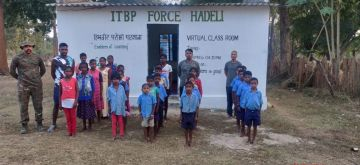 ITBP's role in Chhattishgarh; teacher in 'smart' class, student for Halbi.