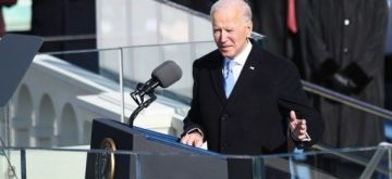 U.S. President Joe Biden delivers his inaugural address after he was sworn in as the 46th President of the United States in Washington, D.C., the United States, on Jan. 20, 2021. (Xinhua/Liu Jie)