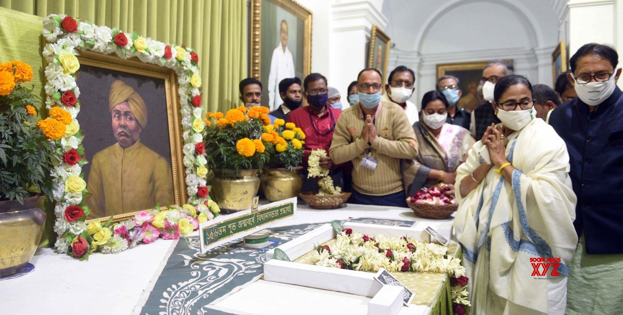 Kolkata: - Chief minister Mamata Banerjee paying homage to Lala Lajpat Rai on his Birth anniversary #Gallery