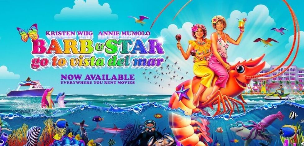 Barb and Star Go to Vista Del Mar Review:  A Wild and Wacky Comedy With Unexpectedly Takeaway Performance by Jamie Dornan (Rating: ***)