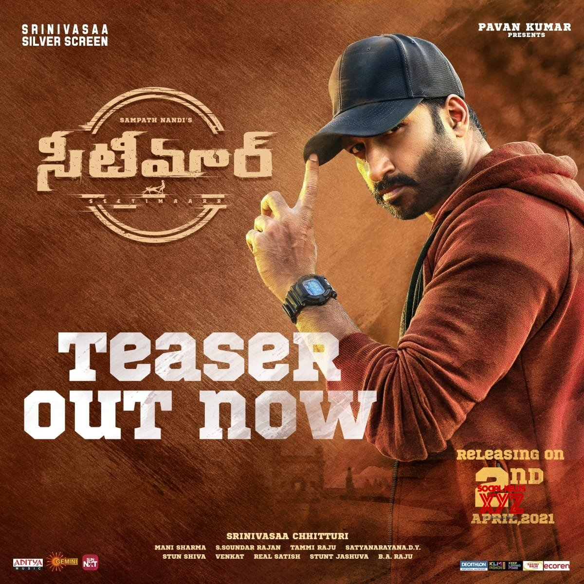 'Kabaddi.. Maidanam lo Aadite Aata... Bayata Aadite Veta...' 'Seetimaar' Teaser Is Whistle worthy
