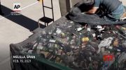 Spain police rescue migrants hidden in containers (Video)