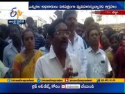 Recount of votes | TDP leader protest at Kothavalasa  (Video)
