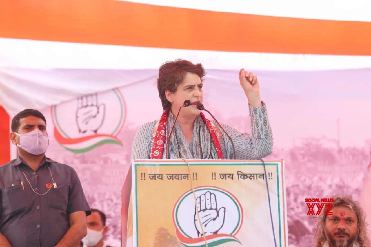 Priyanka Gandhi assures justice to rape victim