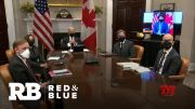 Biden meets with Canadian leader as Senate investigates Capitol attack (Video)