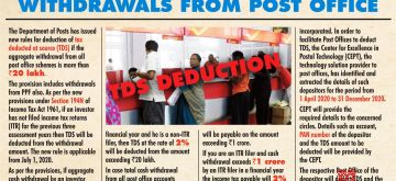 TDS be deducted on cash withdrawals from post office schemes. (IANS Infographics)