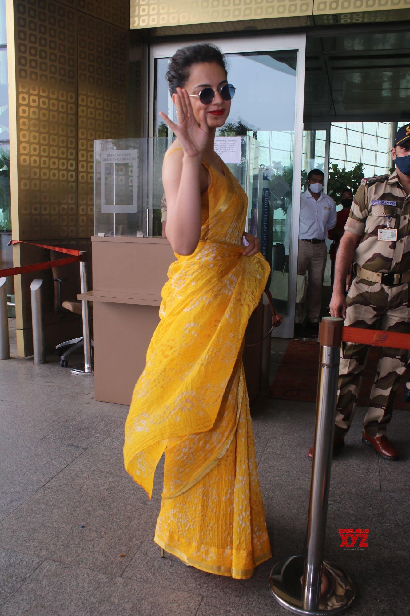 Actress Kangana Ranaut Spotted At Airport Departure - Gallery