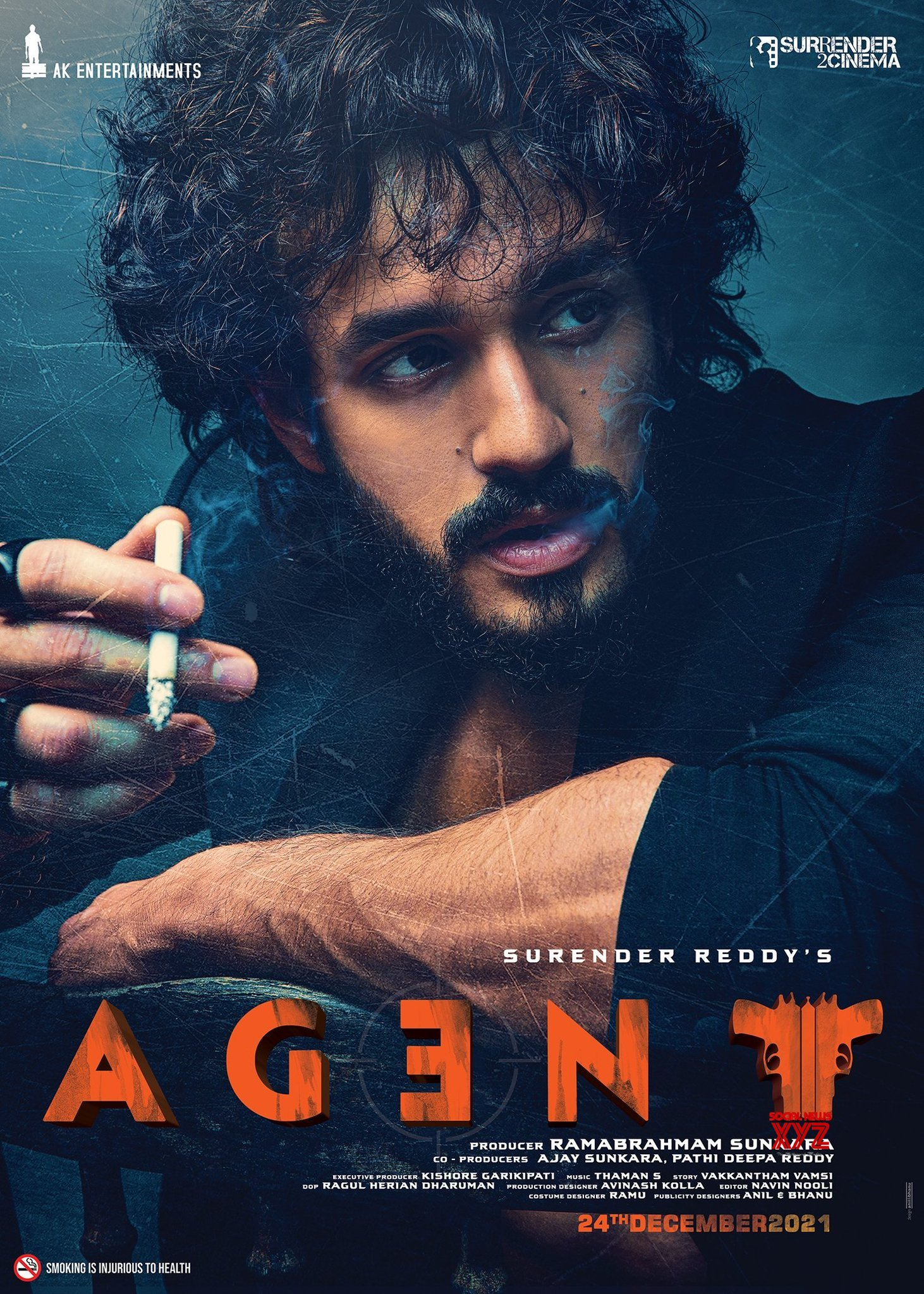 Akhil Akkineni And Surender Reddy's Agent Movie First Look Poster