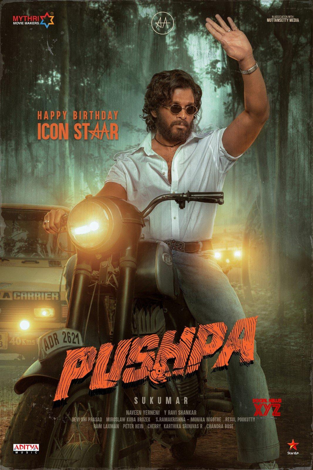 Icon Star Allu Arjun Birthday Poster From Pushpa Movie