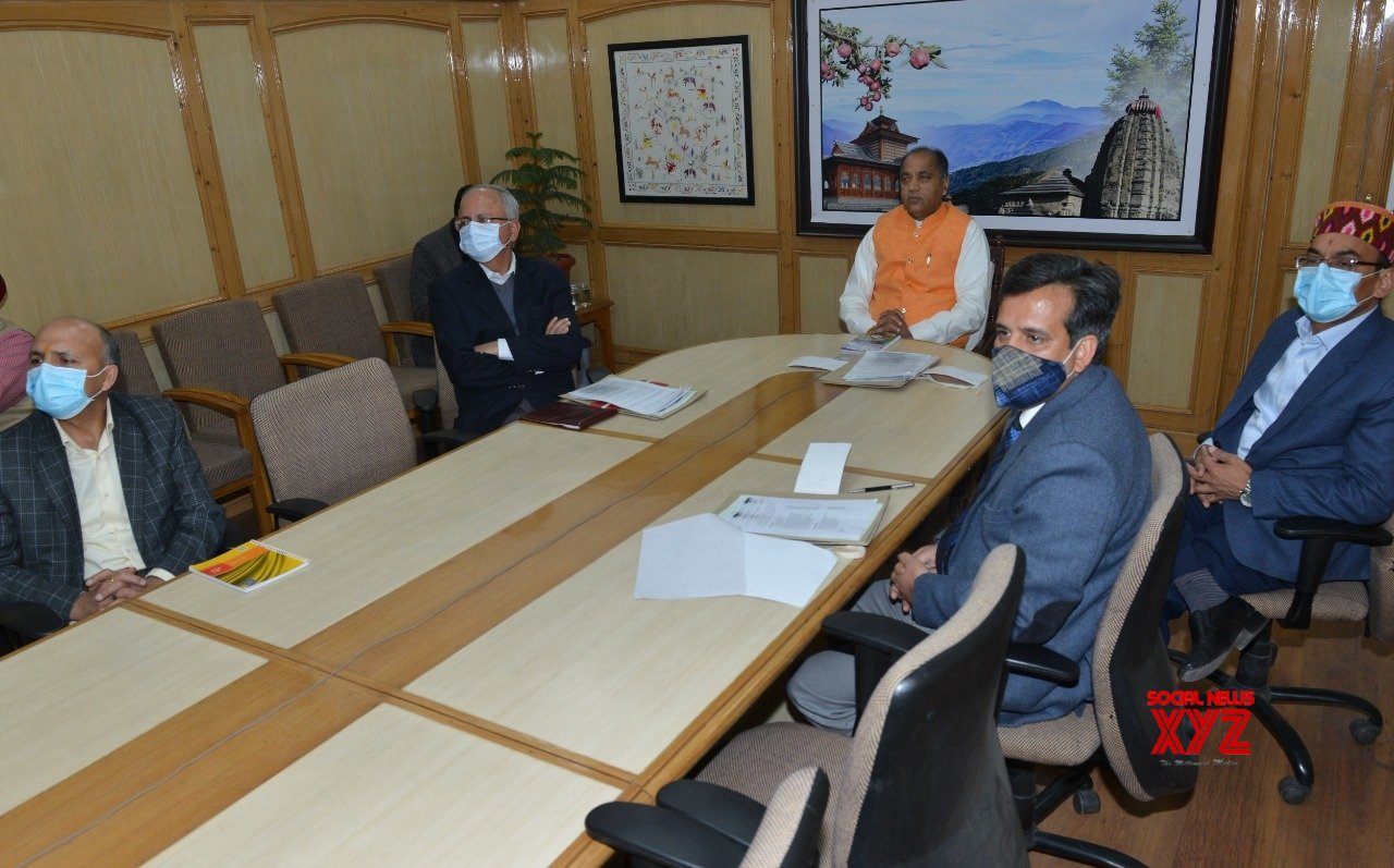 Shimla: Prime Minister Narendra Modi chaired the high level meeting to commemorate 400th birth anniversary (Prakash Parv) of Hind Ki Chadar Shri Guru Teg Bahadur today through video conferencing, which was also attended by Chief Minister Jai Ram Thakur from Shimla today, 08 April 2021. #Gallery