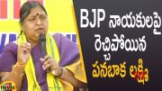 TDP Candidate Panabaka Lakshmi Serious Comments on BJP Leaders (Video)
