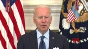 Biden sets goal of fully vaccinating 160 million adults by July 4 (Video)
