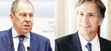 Xinhua file photos of Russian Foreign Minister Sergei Lavrov (L) and U.S. Secretary of State Antony Blinken