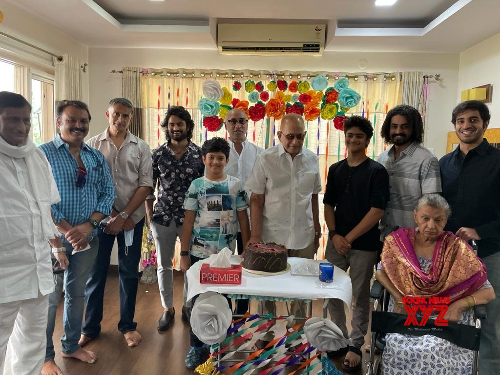 Hyderabad: Telugu superstar Mahesh Babu celebrate birthday of his father, veteran Telugu actor Krishna in Hyderabad. #Gallery