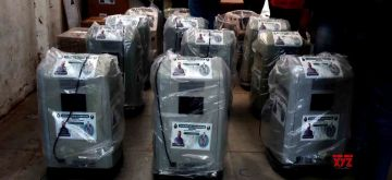 Hyderabad :   AIMIM Supremo Asaduddain owaisi MP donated ventilators and Oxygen Concentrators to Aurangabad in Hyderabad, Monday 31 May 2021.  (Photo: IANS)