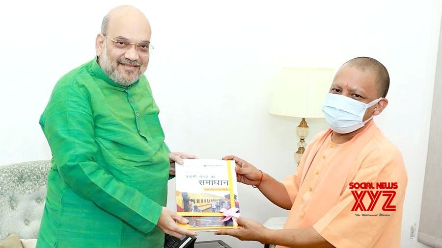 Yogi discusses UP political situation with Amit Shah, Apna Dal chief